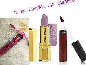 3 pc luxury lip bundle ofra,jafra royal,beauty cre